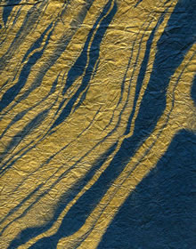 Gold On Blue Milled Marbled Mulberry Paper Saa Paper